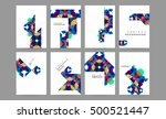 geometric background template... | Shutterstock .eps vector #500521447