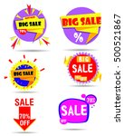 label  sale  vector set | Shutterstock .eps vector #500521867