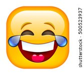 laughing emoticon. happy smile. ... | Shutterstock .eps vector #500523937