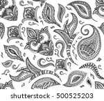 seamless floral retro... | Shutterstock .eps vector #500525203