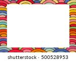 Rainbow Frame With Blanck Spac...