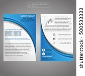 front and back page brochure... | Shutterstock .eps vector #500533333