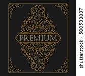 antique label  vintage frame... | Shutterstock .eps vector #500533837