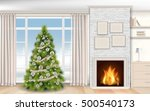 modern christmas interior with... | Shutterstock .eps vector #500540173