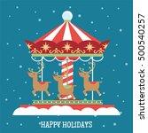 reindeer christmas carousel...