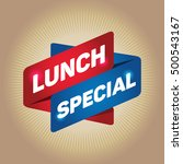 lunch special arrow tag sign. | Shutterstock .eps vector #500543167