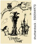 halloween vector collection... | Shutterstock .eps vector #500544973