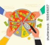business shareholder concept in ...   Shutterstock .eps vector #500545057