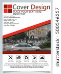 brochure template for annual... | Shutterstock .eps vector #500546257