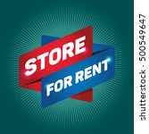 store for rent arrow tag sign. | Shutterstock .eps vector #500549647