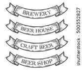 craft beer brewery shop market... | Shutterstock .eps vector #500552827