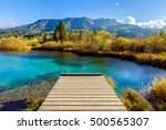 beautiful nature landscape of... | Shutterstock . vector #500565307