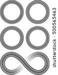set of four round vector frames ... | Shutterstock .eps vector #500565463