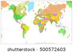 physical world map in colors of ... | Shutterstock .eps vector #500572603