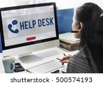 mobile phone customer service... | Shutterstock . vector #500574193