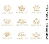 luxury logo set boutique hotel... | Shutterstock .eps vector #500575513