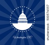 washington dc symbol. white... | Shutterstock .eps vector #500576557