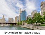 chicago's beautiful riverwalk... | Shutterstock . vector #500584027