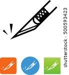 sharp  precision knife symbol.  | Shutterstock .eps vector #500593423