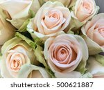 Stock photo bouquet of fresh white roses flower bright background 500621887