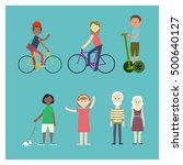 urban people icons collection... | Shutterstock .eps vector #500640127