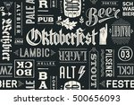 seamless pattern with types of... | Shutterstock .eps vector #500656093
