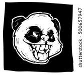 panda handdrawn | Shutterstock .eps vector #500657947