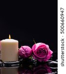 still life with two rose with...   Shutterstock . vector #500660947