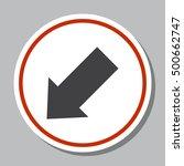 arrow icon vector   Shutterstock .eps vector #500662747