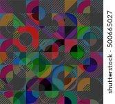 abstract vector background dot... | Shutterstock .eps vector #500665027