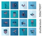 4th of july  independence day... | Shutterstock .eps vector #500679097