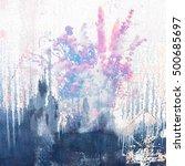 grunge scratch paper texture.... | Shutterstock . vector #500685697