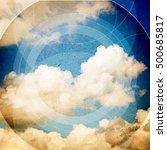 clouds triangulation background.... | Shutterstock . vector #500685817