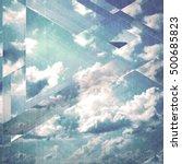clouds triangulation background....   Shutterstock . vector #500685823