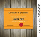 modern certificate design | Shutterstock .eps vector #500686033