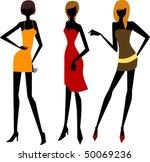 girls | Shutterstock .eps vector #50069236