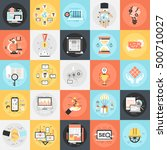 flat conceptual icons set of... | Shutterstock .eps vector #500710027