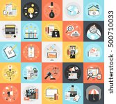 flat conceptual icons set of... | Shutterstock .eps vector #500710033