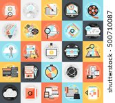 flat conceptual icons set of... | Shutterstock .eps vector #500710087