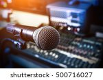 microphone over the abstract... | Shutterstock . vector #500716027