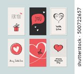 set of romantic cards | Shutterstock .eps vector #500722657