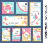 elegant modern flyers and cards ... | Shutterstock .eps vector #500728327