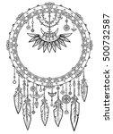 talisman dreamcatcher with... | Shutterstock .eps vector #500732587
