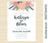 wedding invitation card... | Shutterstock .eps vector #500734453