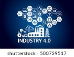 industrial 4.0 cyber physical... | Shutterstock . vector #500739517
