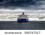 big ship at sea during by a... | Shutterstock . vector #500747317