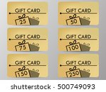 gift card with a gift box.... | Shutterstock .eps vector #500749093