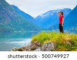 tourism vacation and travel.... | Shutterstock . vector #500749927