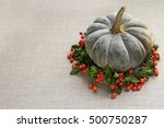 Green Pumpkin Decorated With...