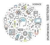 line web concept for science.... | Shutterstock . vector #500750563
